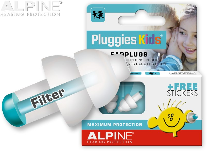 Alpine Pluggies Kids with earplug